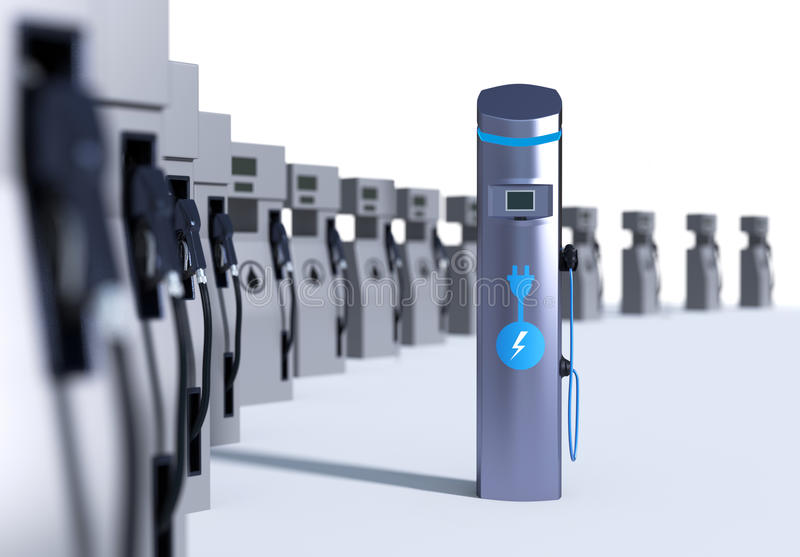 Charging Station Concept royalty free stock images