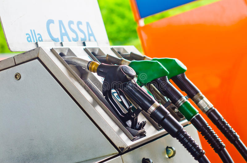 Charging your gasoline stock images
