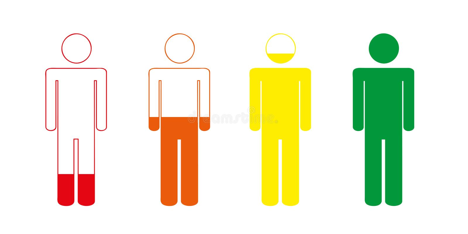 Charging your life battery person pictogram stock illustration