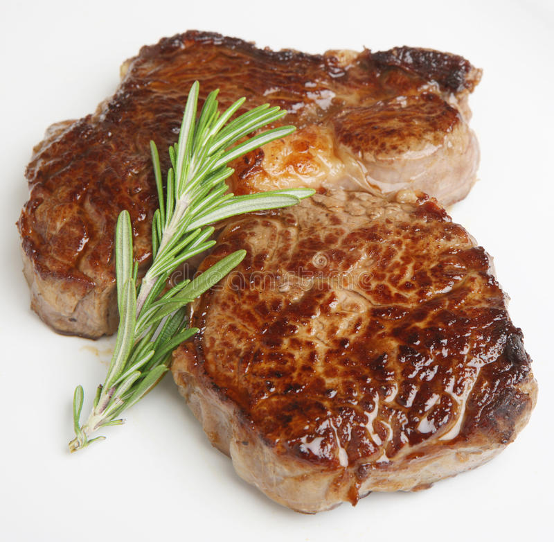Chargrilled Rib-Eye Beef Steak royalty free stock photo