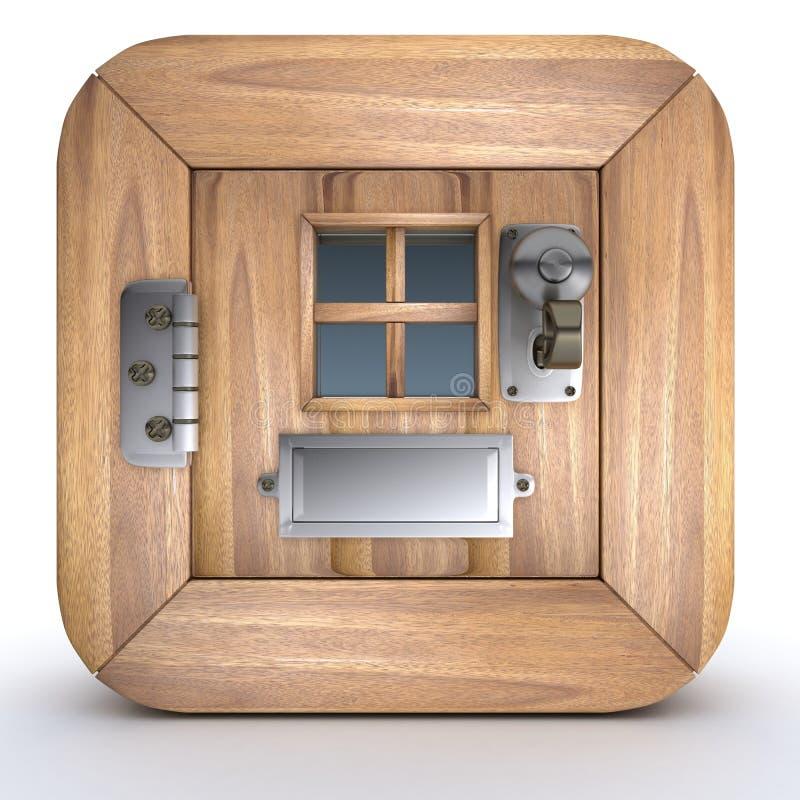 Charicature van een deur in pictogramformaat vector illustratie