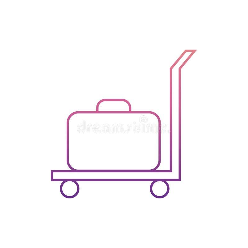 chariot à cargaison avec un suitcaseicon en style de Nolan Un de l'icône de collection de Web peut être employé pour UI, UX illustration stock