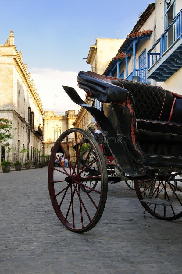 Chariot à vieille La Havane image stock