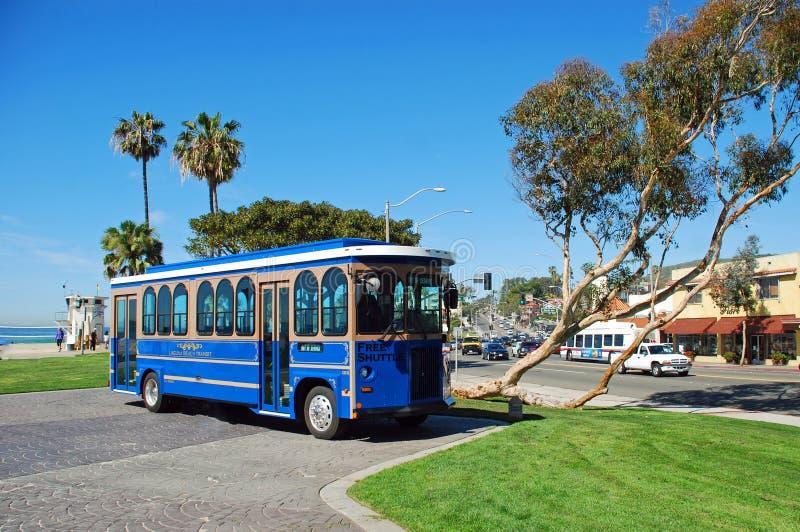 Chariot à ville pour le Laguna Beach, la Californie photos libres de droits