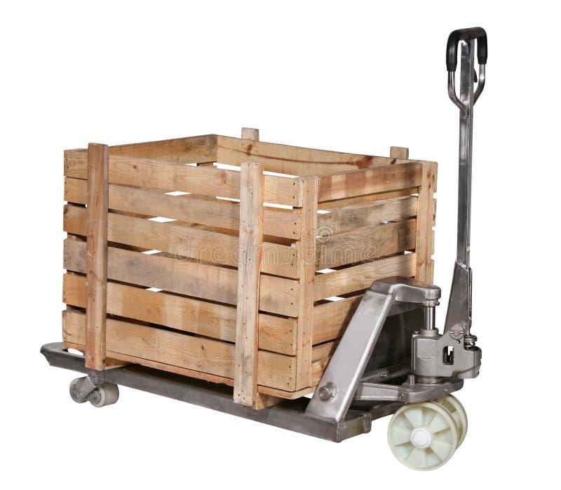 Chariot élévateur de ma série de matériel d'entrepôt image stock