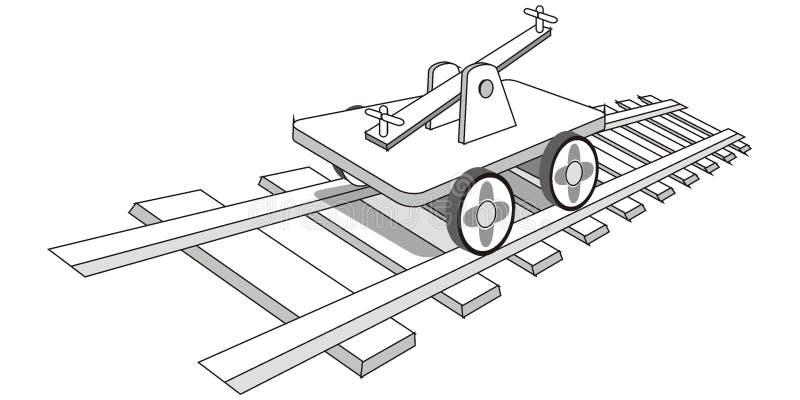 Chariot illustration de vecteur