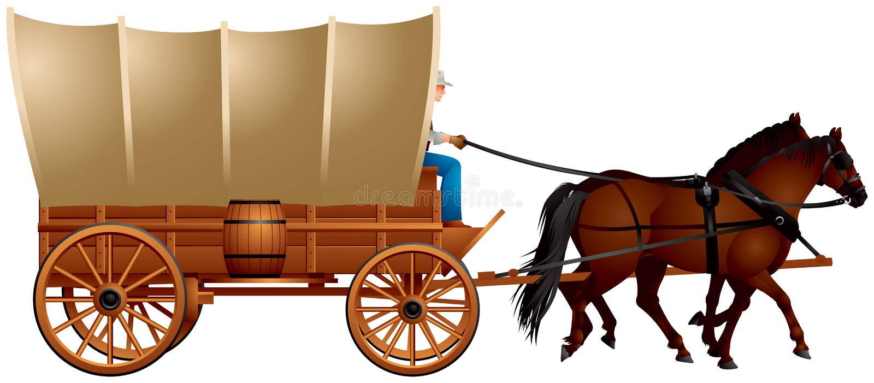 Chariot couvert illustration libre de droits
