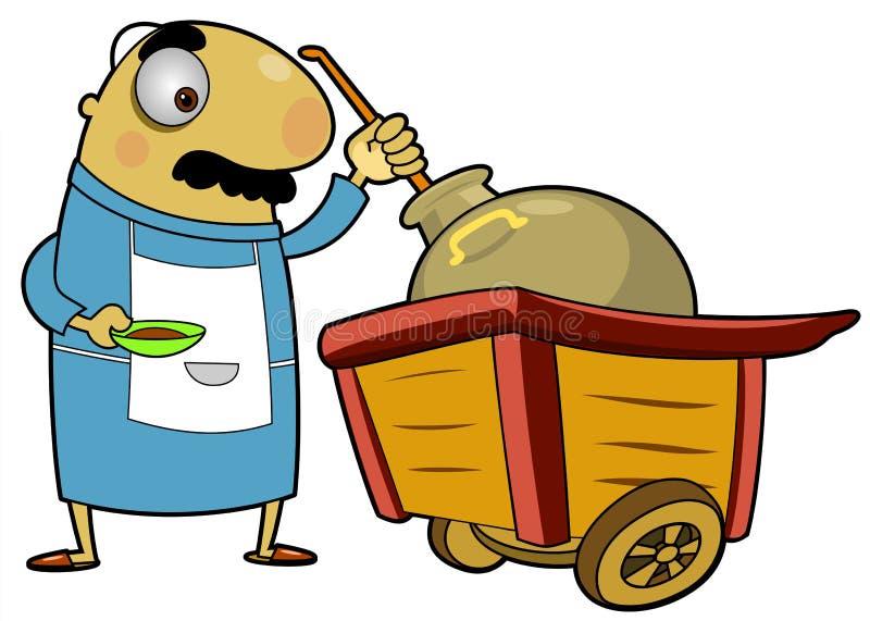 chariot de 2 haricots illustration de vecteur