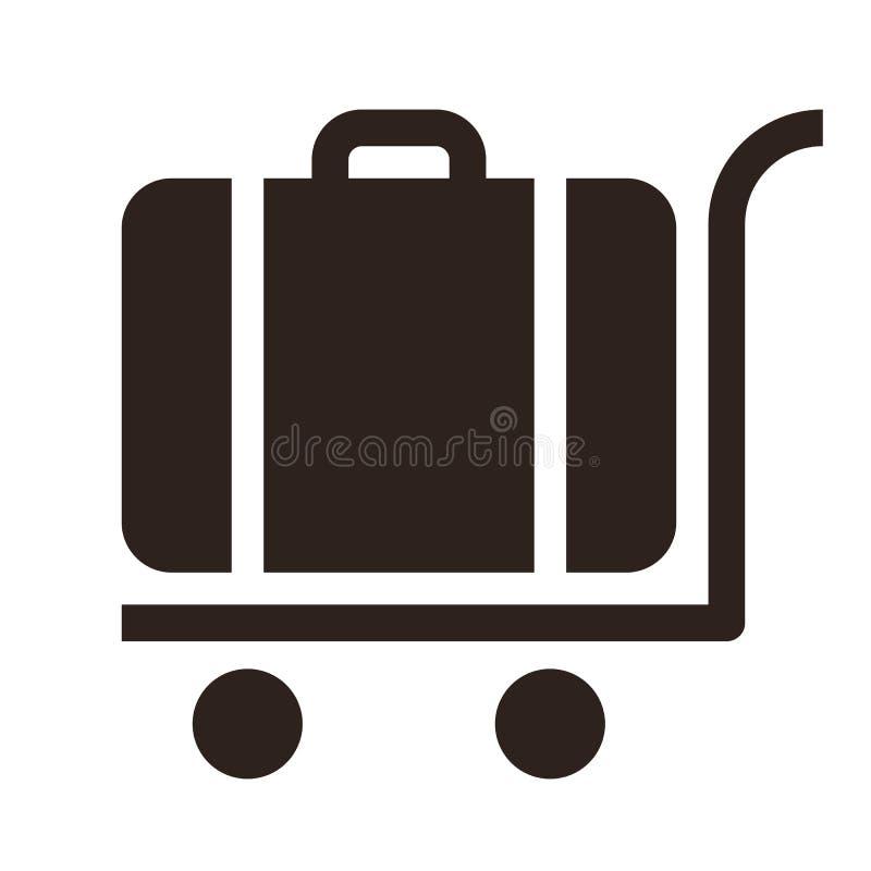 Chariot de bagages - icône de voyage illustration stock