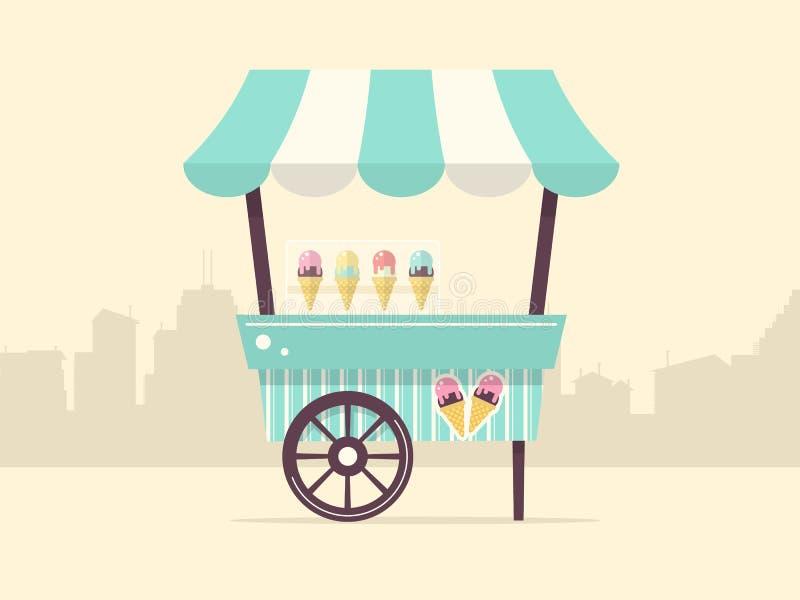 Chariot de crème glacée illustration libre de droits