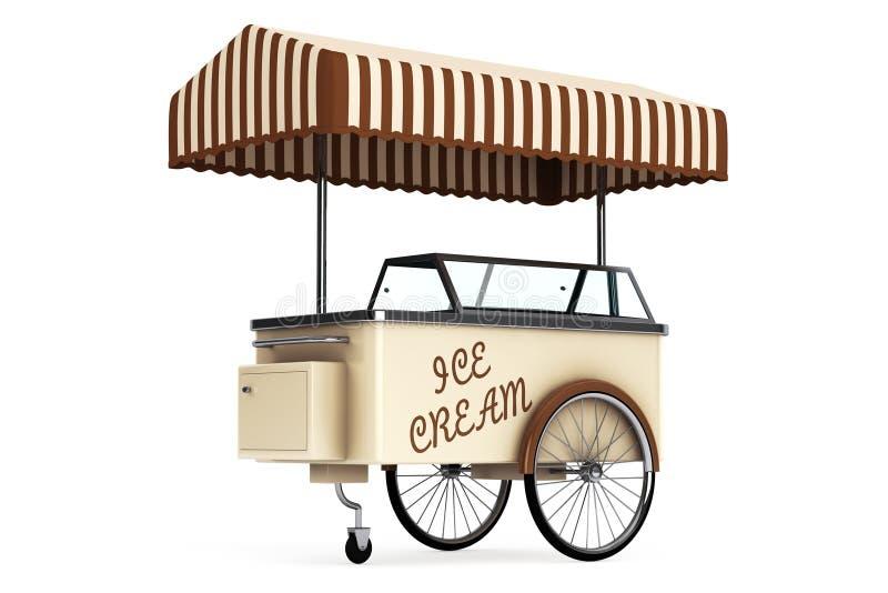 Chariot de crème glacée rendu 3d illustration de vecteur
