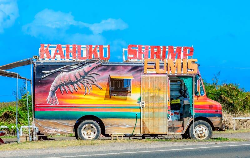 Chariot de crevette de Kahuku image libre de droits