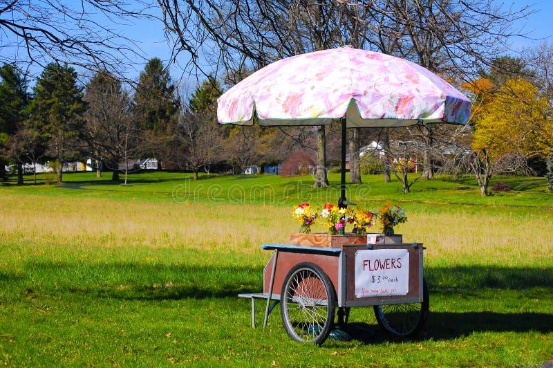 Chariot de fleur images stock