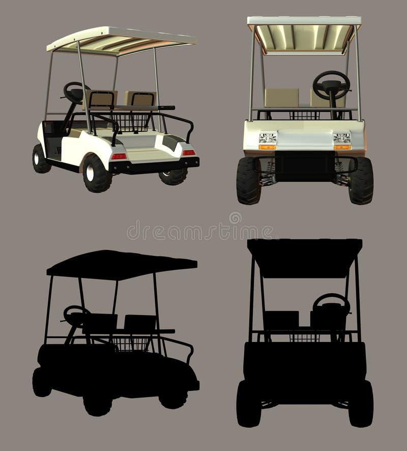 Chariot de golf illustration libre de droits