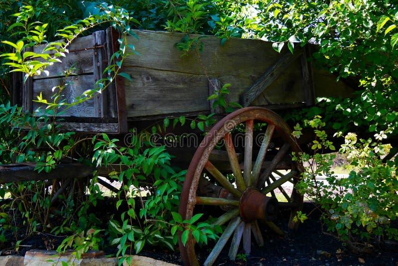 Chariot de jardin décoratif photographie stock libre de droits