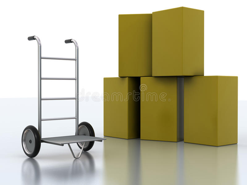 Chariot de la distribution illustration stock