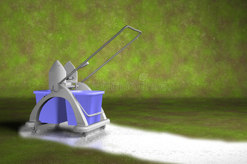 Chariot de nettoyage illustration de vecteur