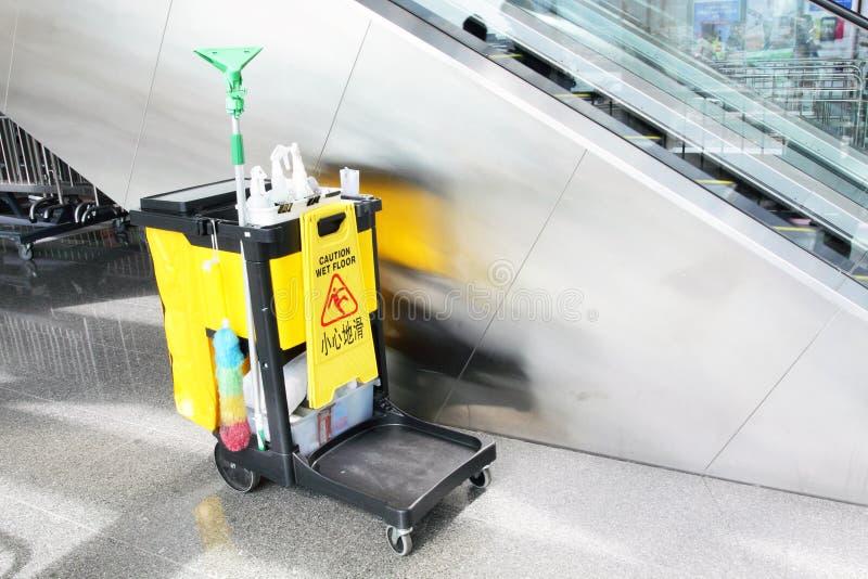 Chariot de nettoyage photos libres de droits