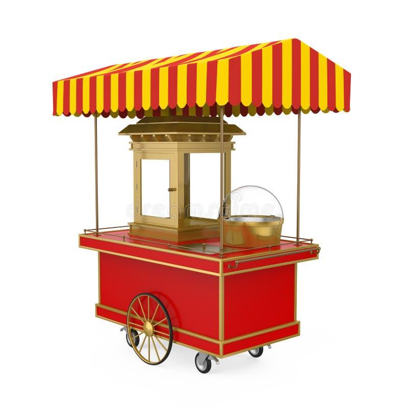 Chariot de nourriture d'isolement illustration stock