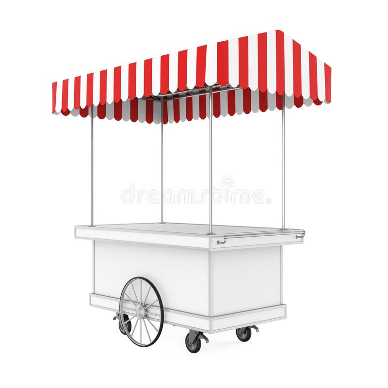 Chariot de nourriture d'isolement illustration de vecteur
