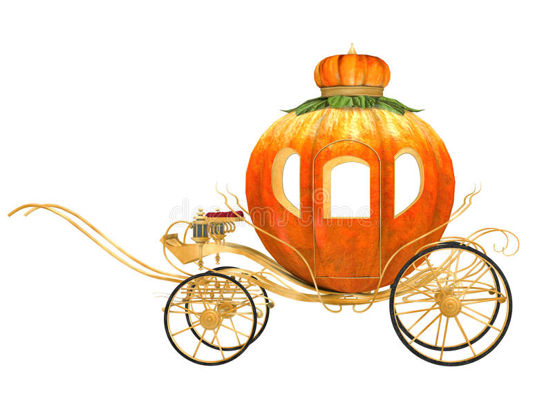 Chariot de potiron de conte de fées de Cendrillon illustration stock