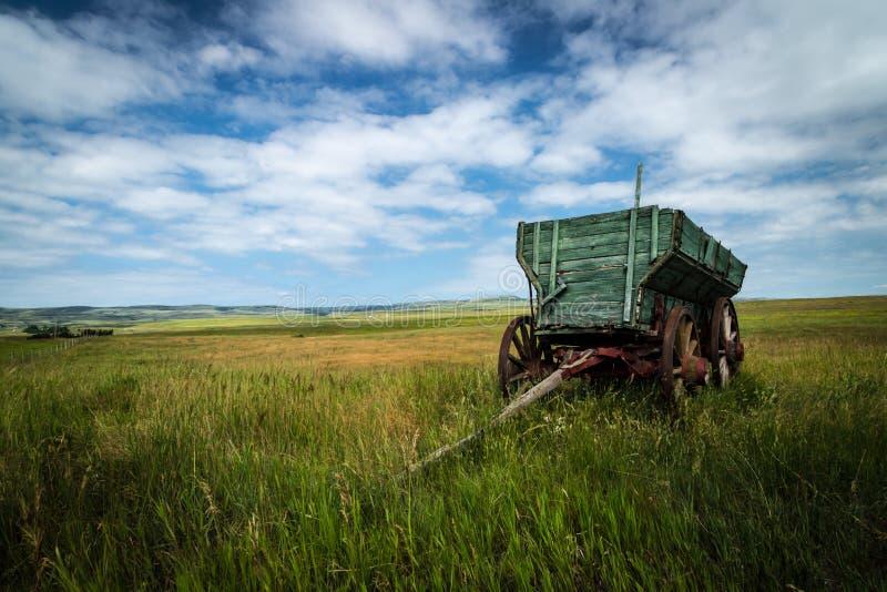 Chariot de prairie photographie stock