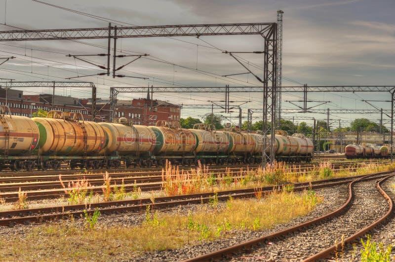 Chariot de réservoir de manière de rail photo stock