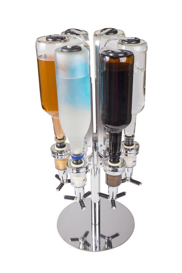 Chariot de rotation Liquor Dispenser Isolated sur le blanc images stock