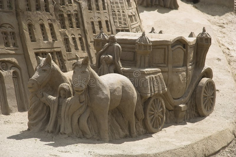 Chariot de sable photos stock