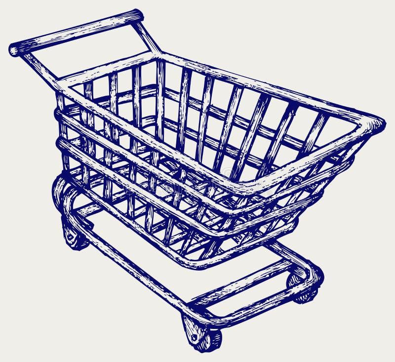 Chariot de supermarché d'achats illustration de vecteur