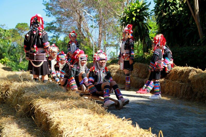 Chariot de tribu de colline photographie stock