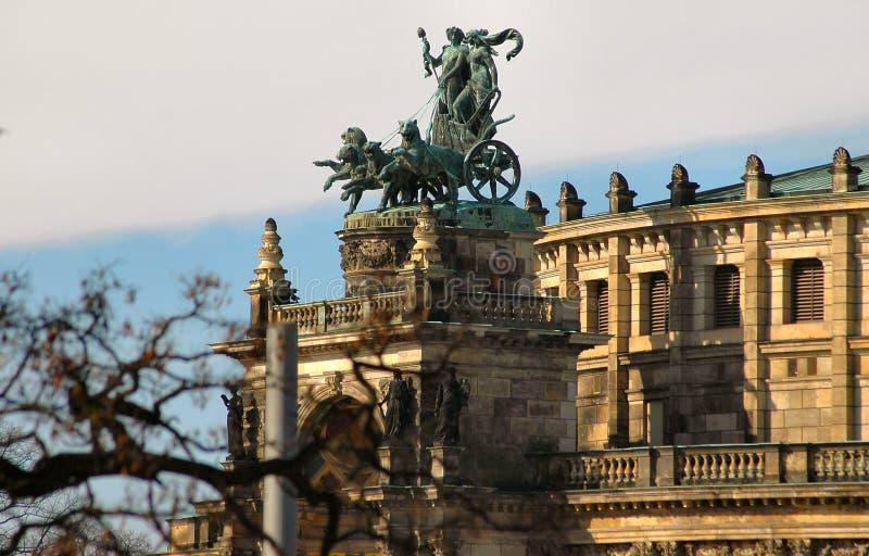 Chariot in Dresden, Deutschland stockbilder