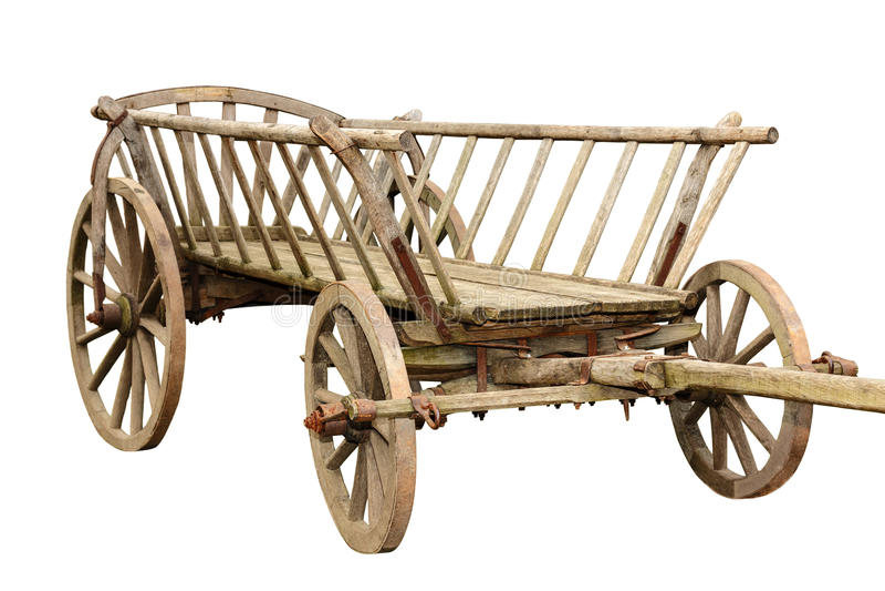Chariot en bois antique images libres de droits