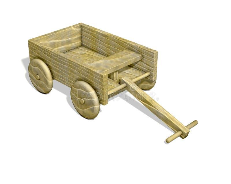 Chariot en bois d'isolement illustration libre de droits
