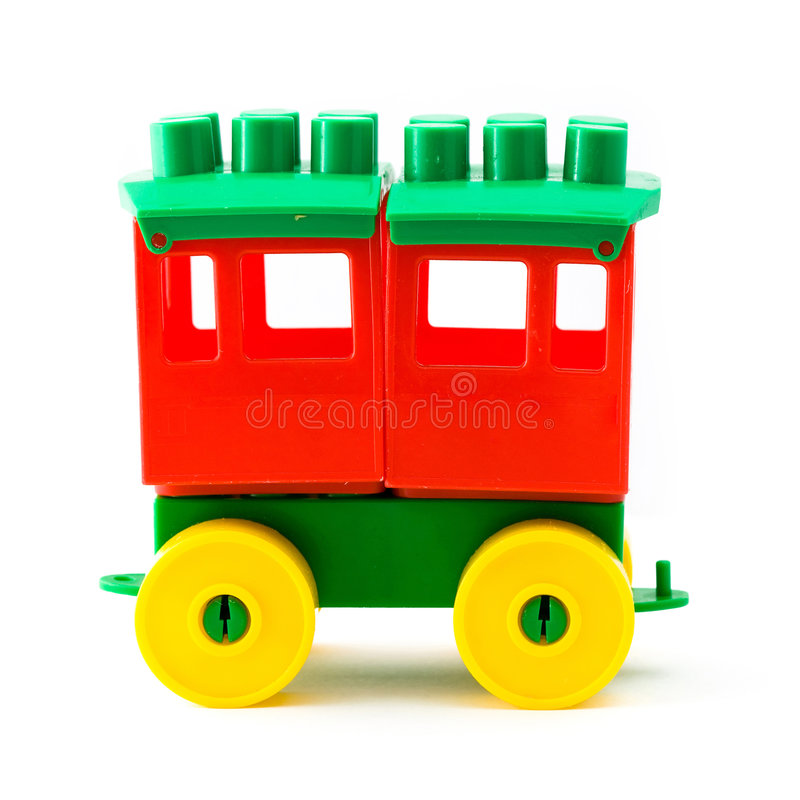 Chariot en plastique de jouet photos libres de droits