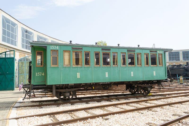Chariot ferroviaire à quatre roues historique image libre de droits