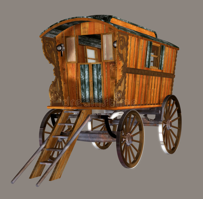 Chariot gitan illustration de vecteur
