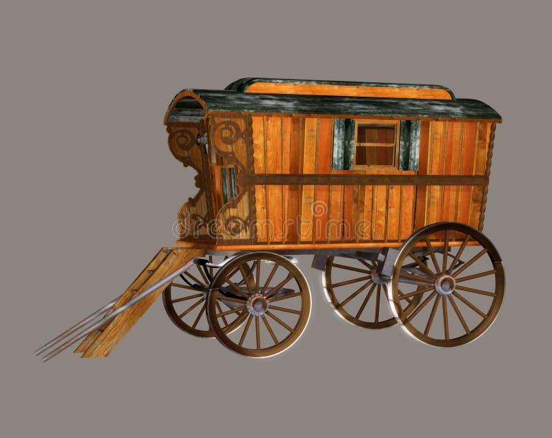 Chariot gitan illustration libre de droits