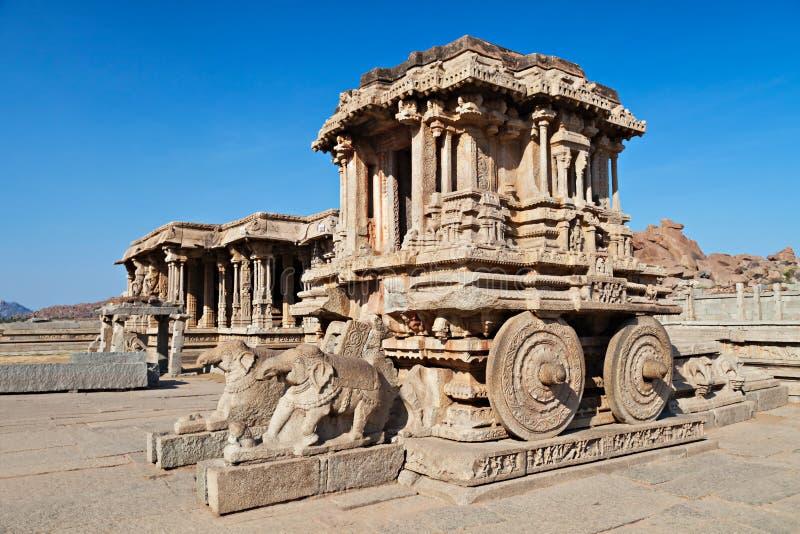 Chariot, Hampi, Indien stockbilder