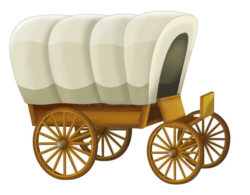 Chariot - illustration pour les enfants illustration de vecteur