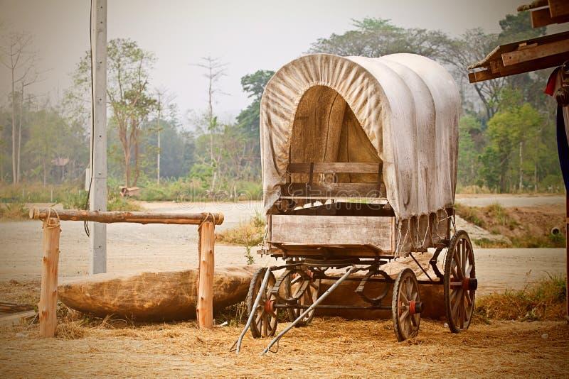 Chariot occidental sauvage illustration de vecteur