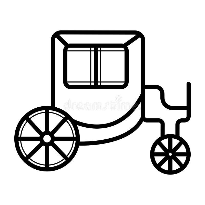 Chariot pour le transport illustration stock
