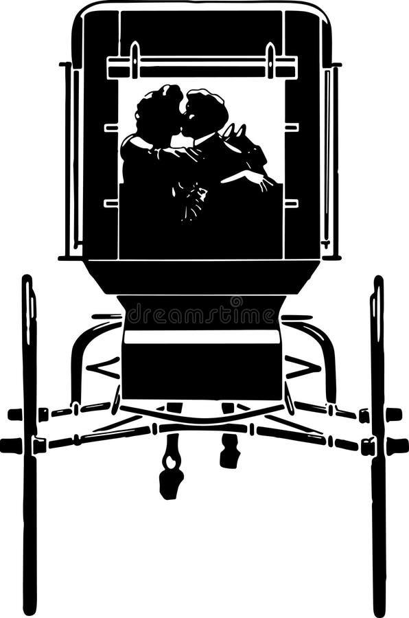 Chariot Romance illustration stock