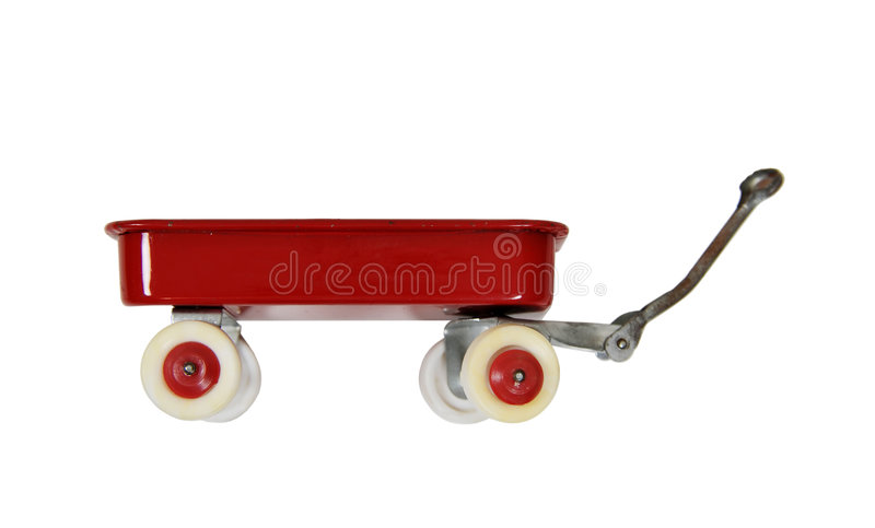 Chariot rouge image stock