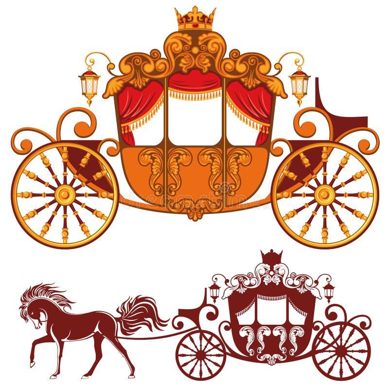 Chariot royal illustration libre de droits