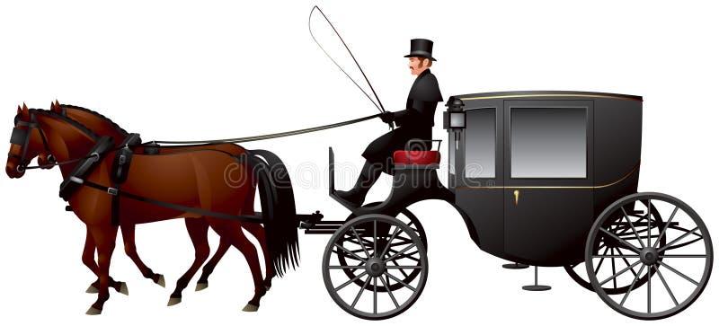 Chariot, un Clarence ou vibreur illustration libre de droits