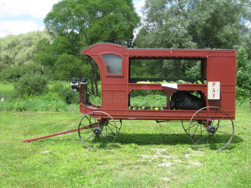 Chariot végétal photographie stock
