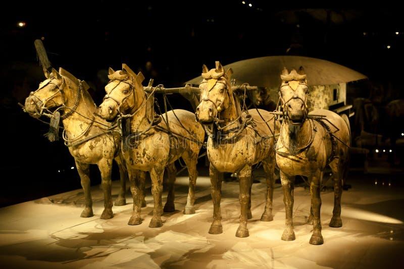 Chariot von der Terrakotta-Armee in Xi'An stockbild