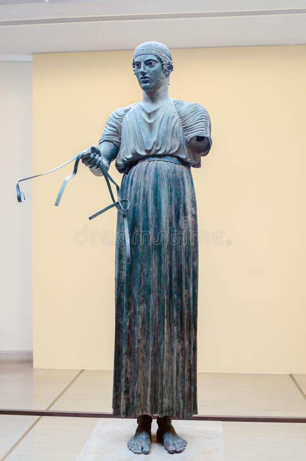 Free Charioteer Statue Located At Delphi Stock Photos - 33751023
