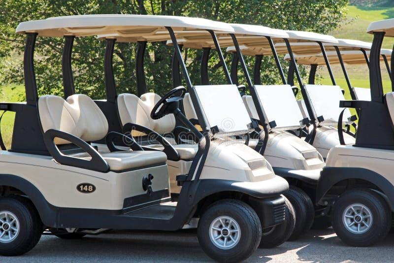 Chariots de golf photo libre de droits